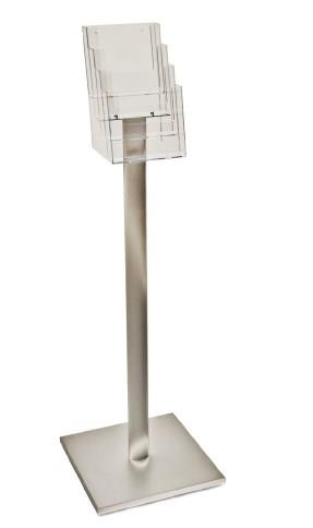 Luxury Leaflet Display Stand - 4 x A5 Tiered Pockets