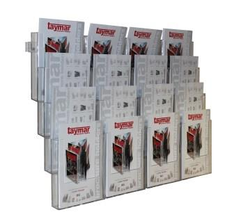 Wall Mounted Leaflet Holder for A4 and DL Literature
