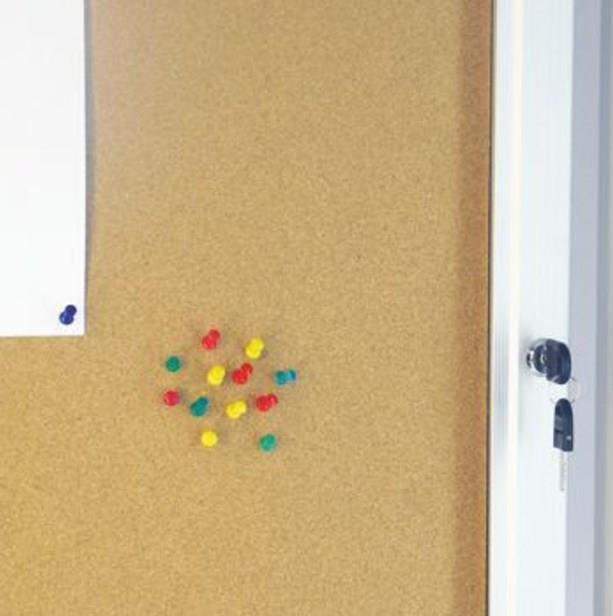Lockable Wall Mounted Cork Noticeboards