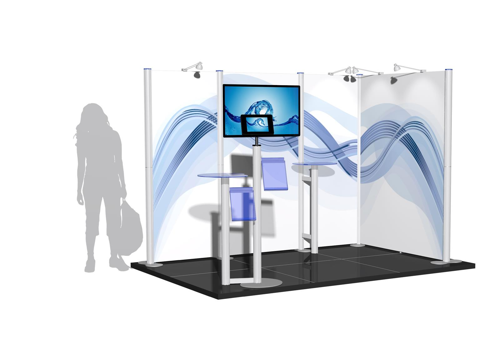Centro 3m x 2m Modular Exhibition Stand - C3x2-2b