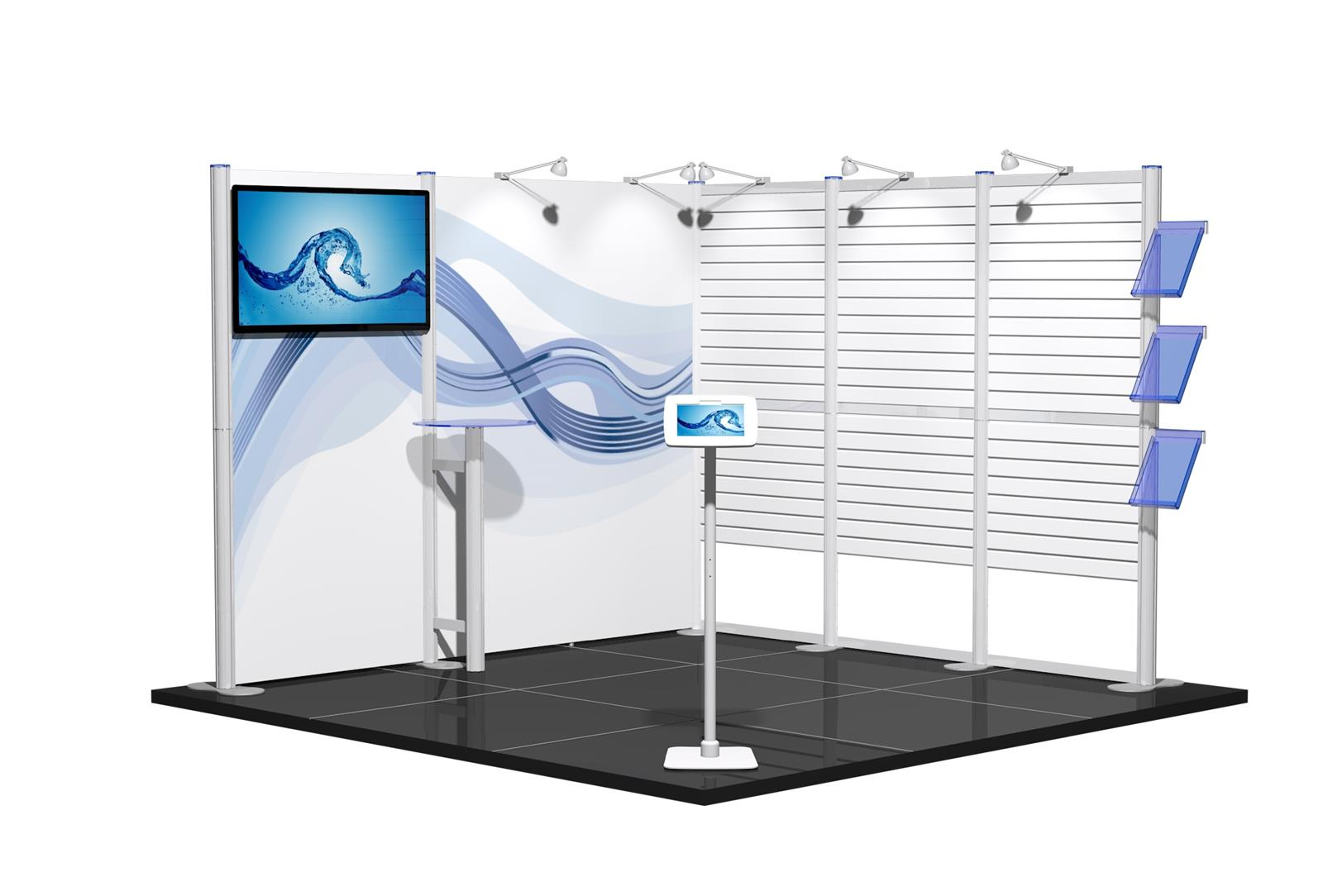 Centro 3m x 3m Modular Exhibition Stand - C3x3-2a