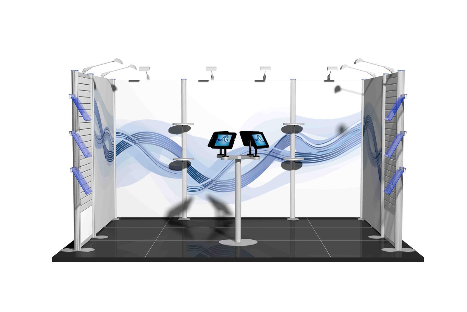 Centro 4m x 3m Modular Exhibition Stand - C4x3-1a