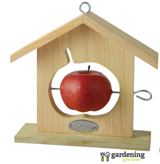 Wooden Framed Silhouette Shape Fruit Bird Feeder - Pack of 3