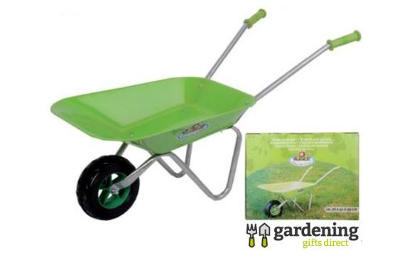 Children's Bright Green Wheelbarrow
