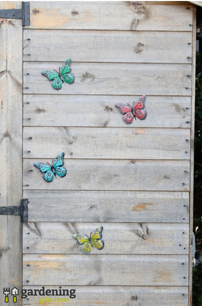 Pack of 12 Multi-Coloured Butterflies - Garden Wall Art