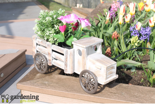 Wooden Rural Truck Planter Box