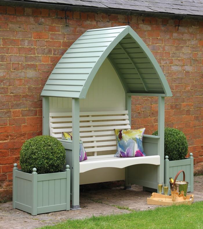 AFK Cottage Garden Arbour Heritage Sage and Cream Painted