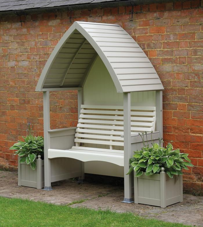 AFK Cottage Garden Arbour Painted Heritage Mushroom and Cream