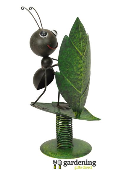Surfin' Ant Metal Garden Ornament