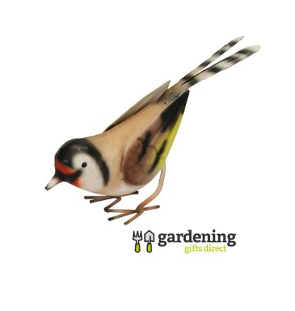 Set of 4 Metal British Bird Garden Ornaments