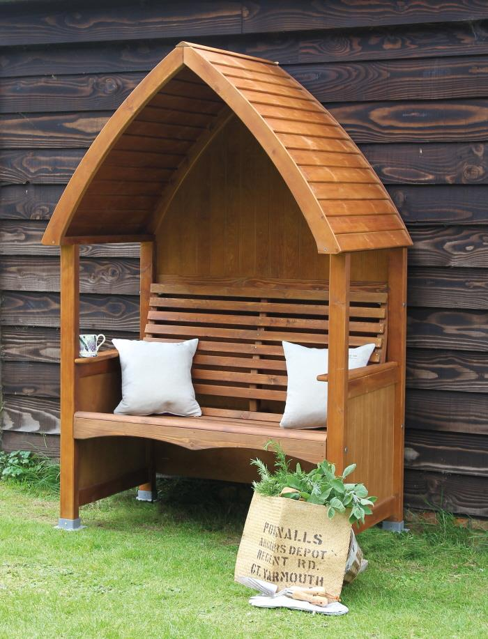 AFK Cottage Garden Arbour Stained Chestnut or Beech