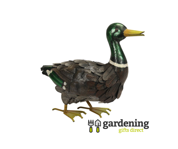Metal Mallard Duck Garden Ornament