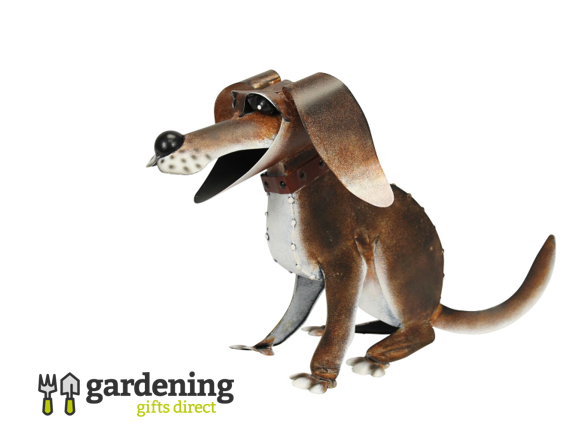 Reggie the Dog Metal Garden Ornament