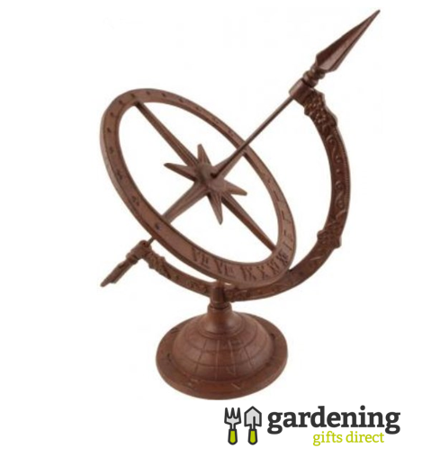 Small Cast Iron Sundial Garden Ornament