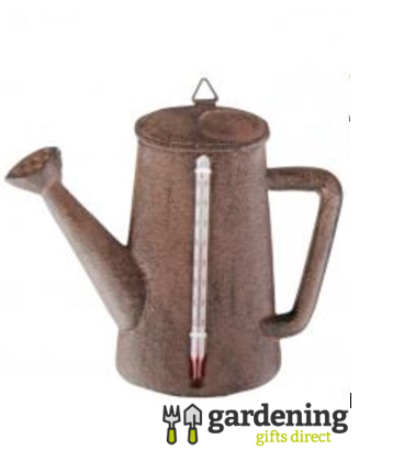 Cast Iron Watering Can Shaped Thermometer