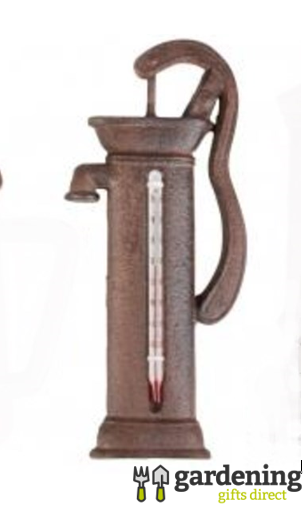 Cast Iron Water Pump Shaped Thermometer