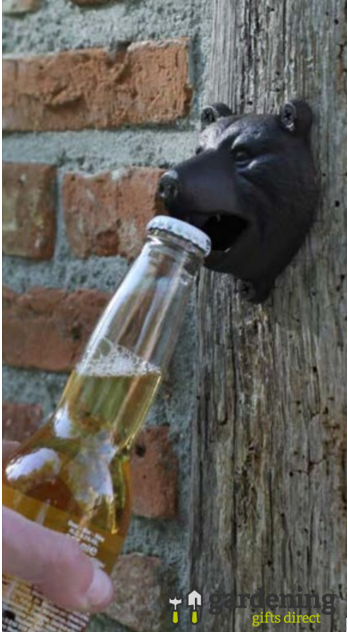Cast Iron Bear Wall Mounted Bottle Opener