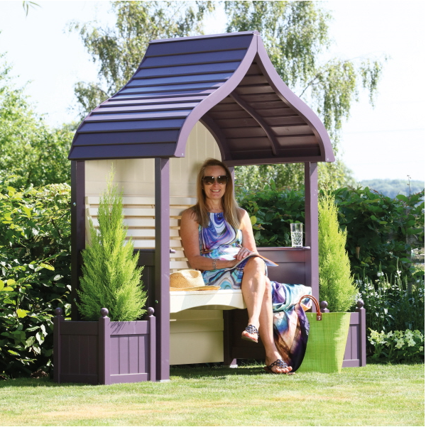 AFK Orchard Arbour in Lavender and Cream paint