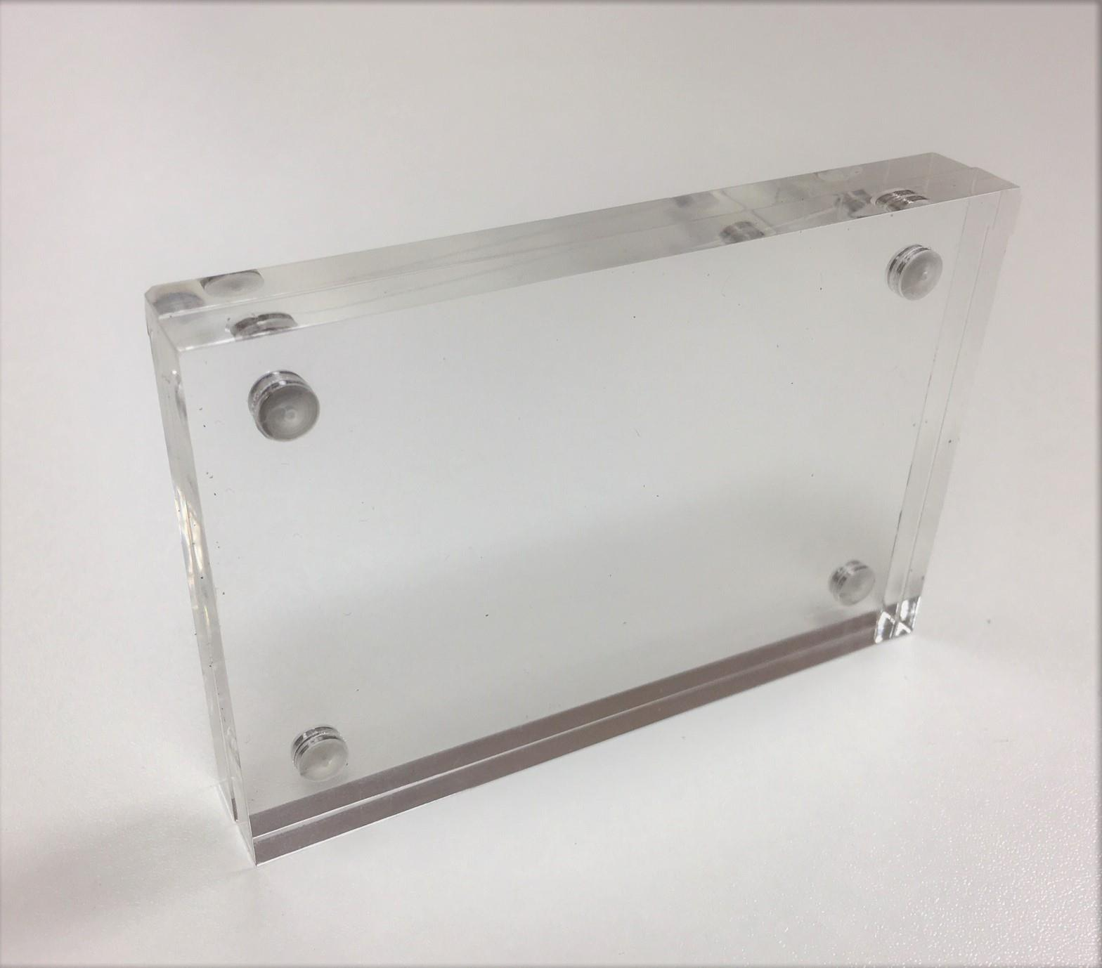 Magnetic Clear Acrylic Business Card Holder
