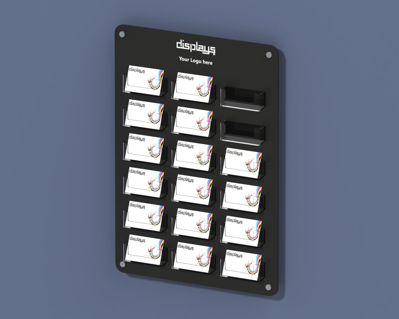 Printed Wall Mounted Business Card Holder - 18 Pockets on Board