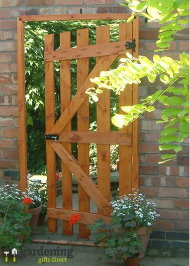 Garden Gate Illusion Garden Mirror Ajar