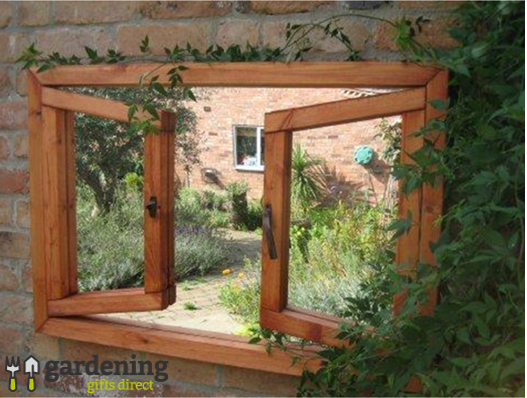 Illusion Garden Mirror Double Opening Window