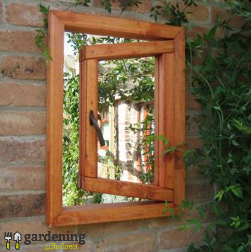 Open Small Window Illusion Garden Mirror