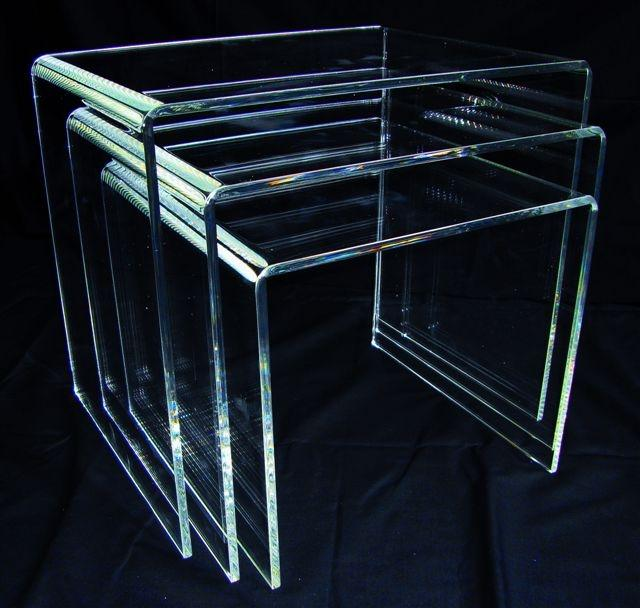Perspex Acrylic Nest of Tables