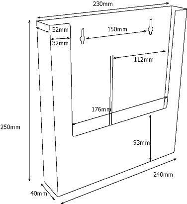 A4 Wall Mounted Perspex Leaflet Holder