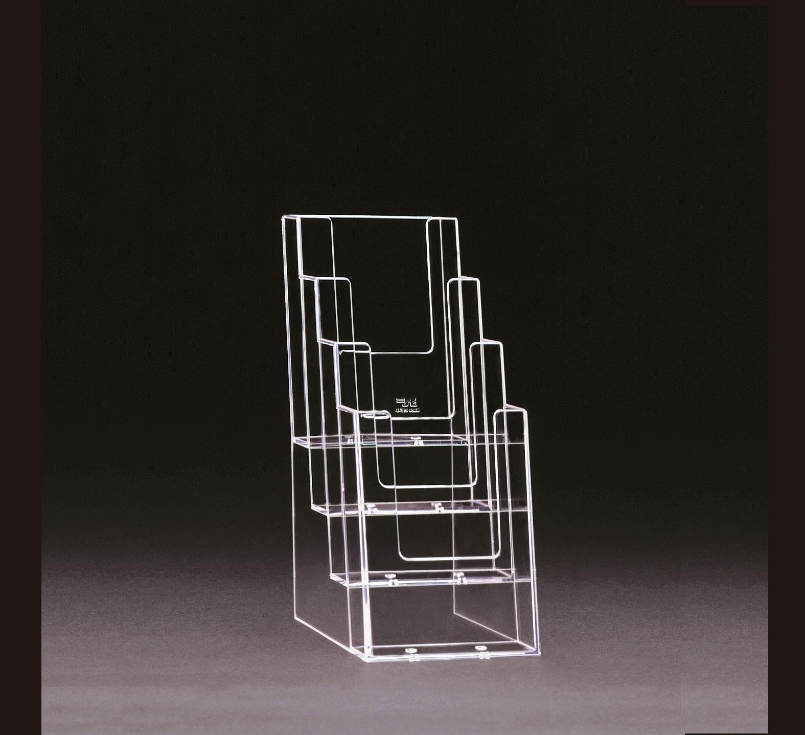 DL 1/3rd A4 Tiered / Stacked  Leaflet Holder 4 high