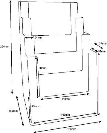 A5 Freestanding Leaflet Holder - 4 Tier/Bay