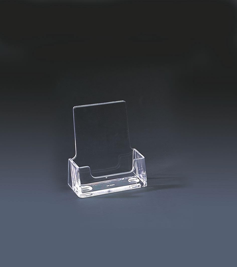 Perspex Clear Freestanding Business Card Holder - Portrait
