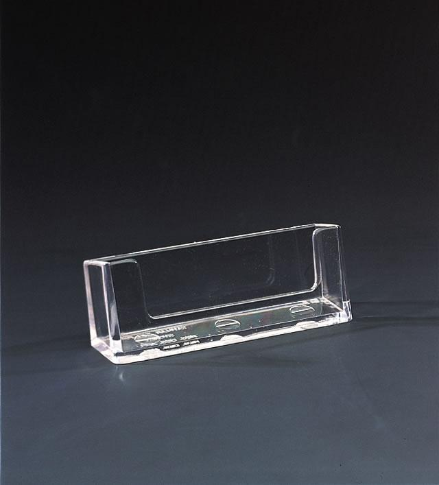 Wall Mounted Business Card Holder - Clear Plastic