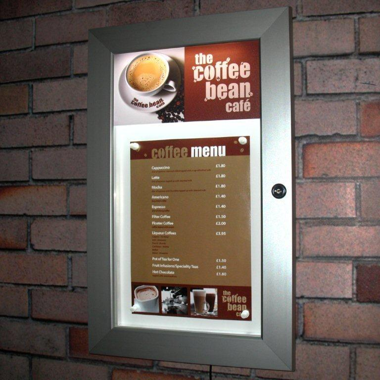Jupiter Illuminated Wall Mounted Menu Case