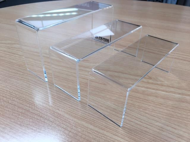 Nest of Perspex Acrylic Display Risers & Bridges