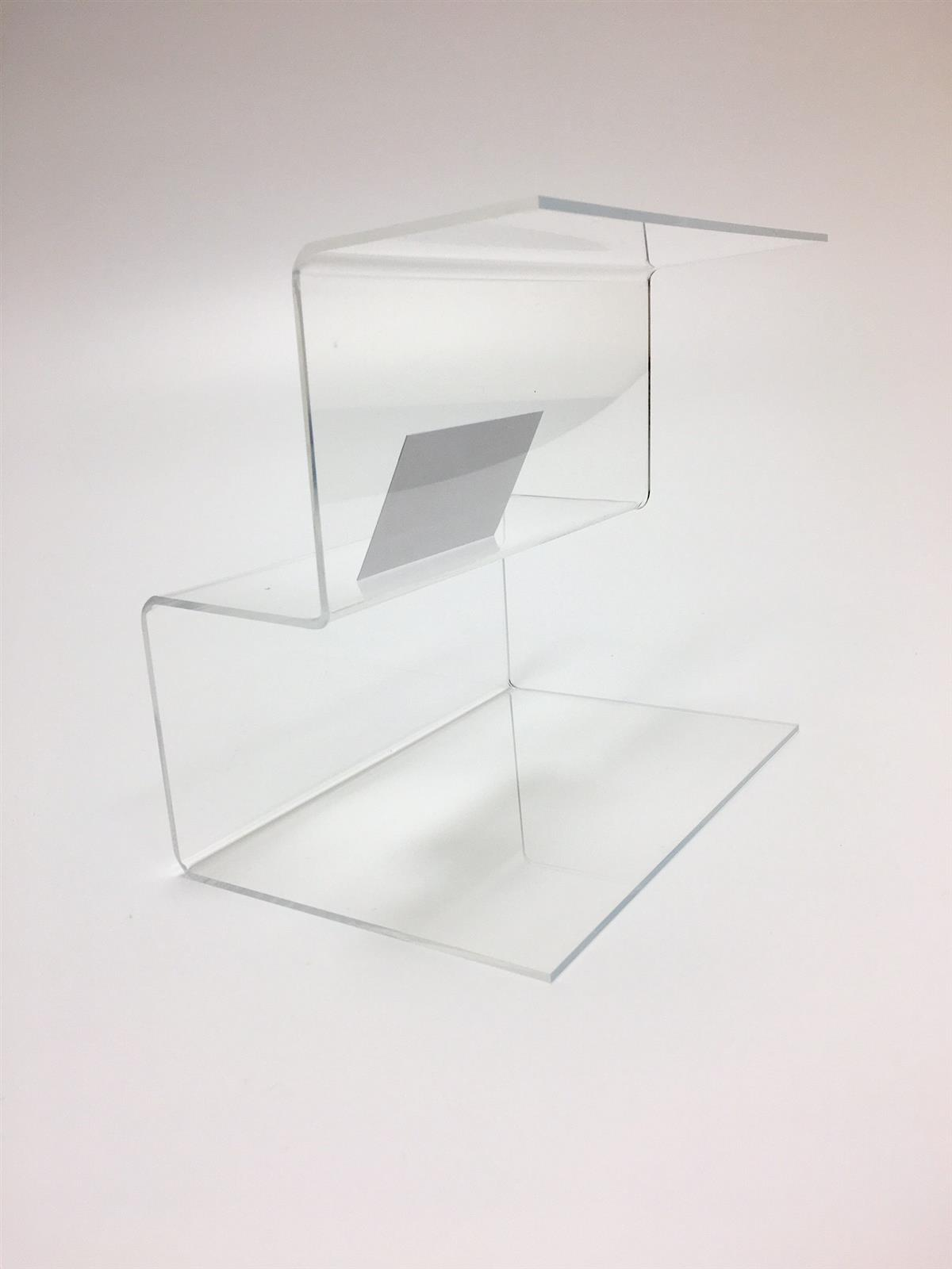 Perspex Acrylic Two Tier Step Display