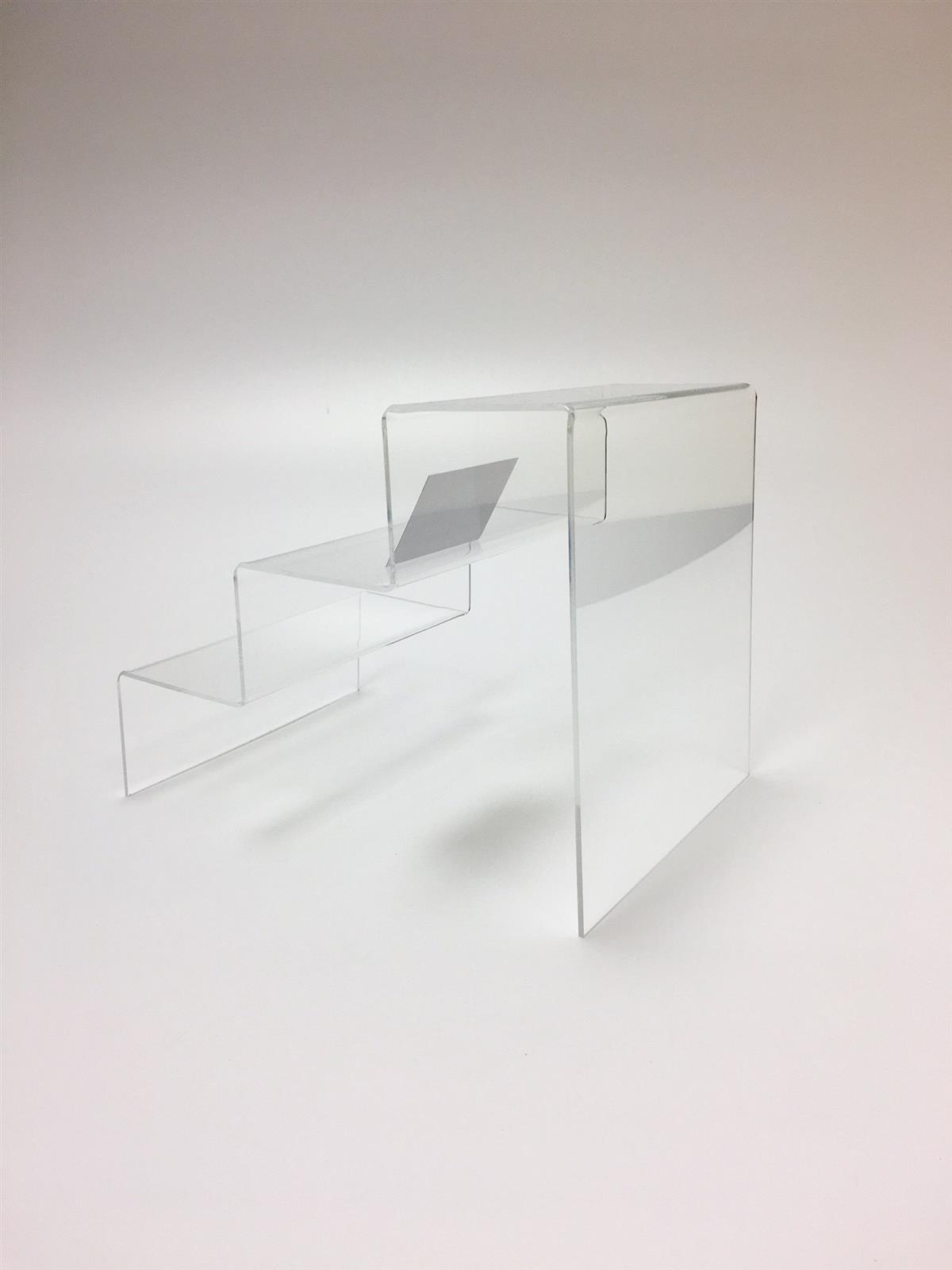 Perspex Acrylic Three Tier Step Display Platforms