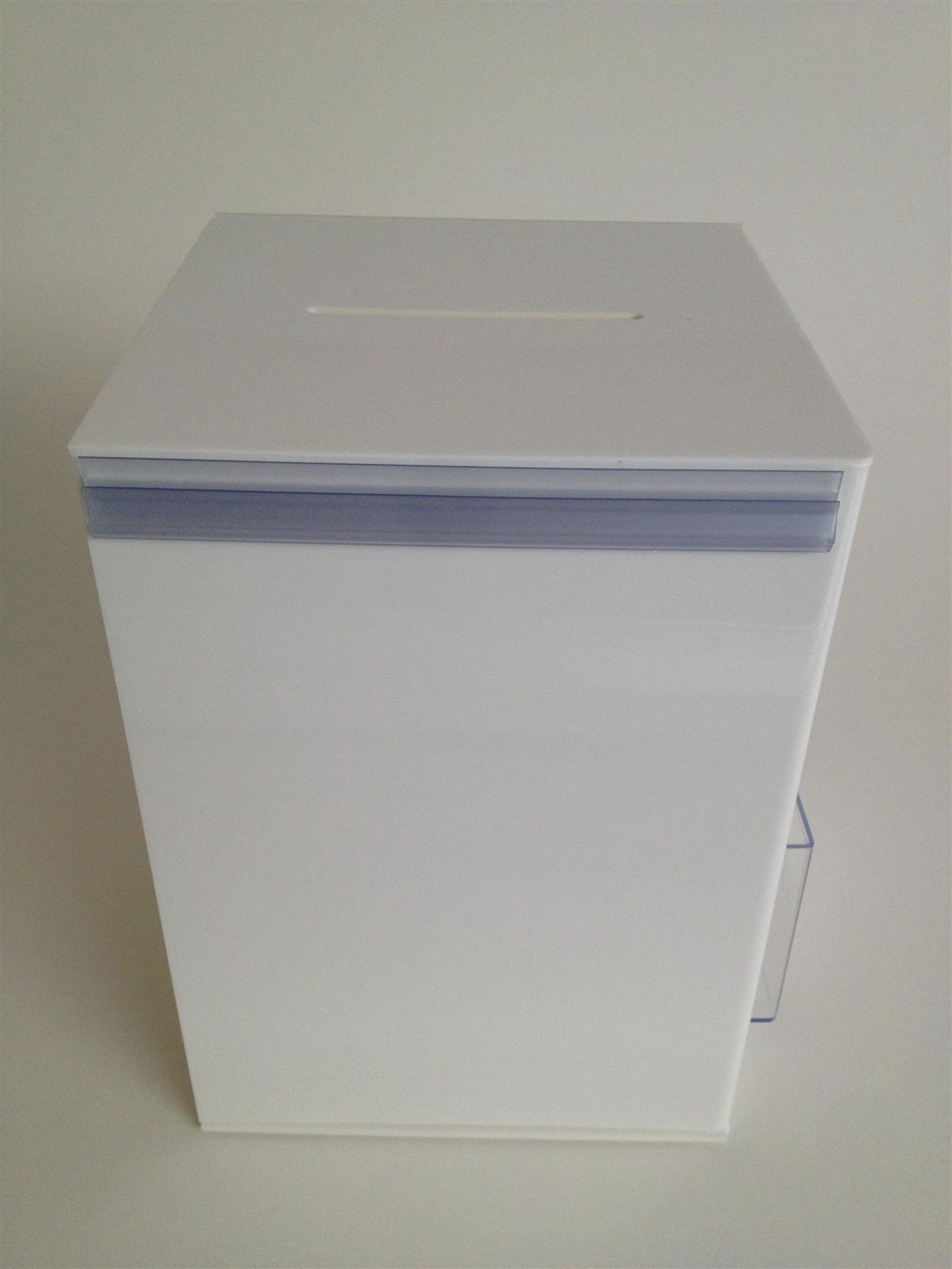 Suggestion Ballot Collection Box with Information Holder