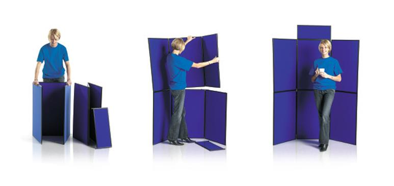 6 Six Panel Folding Display Boards - Stand - Kit For Hire Rent