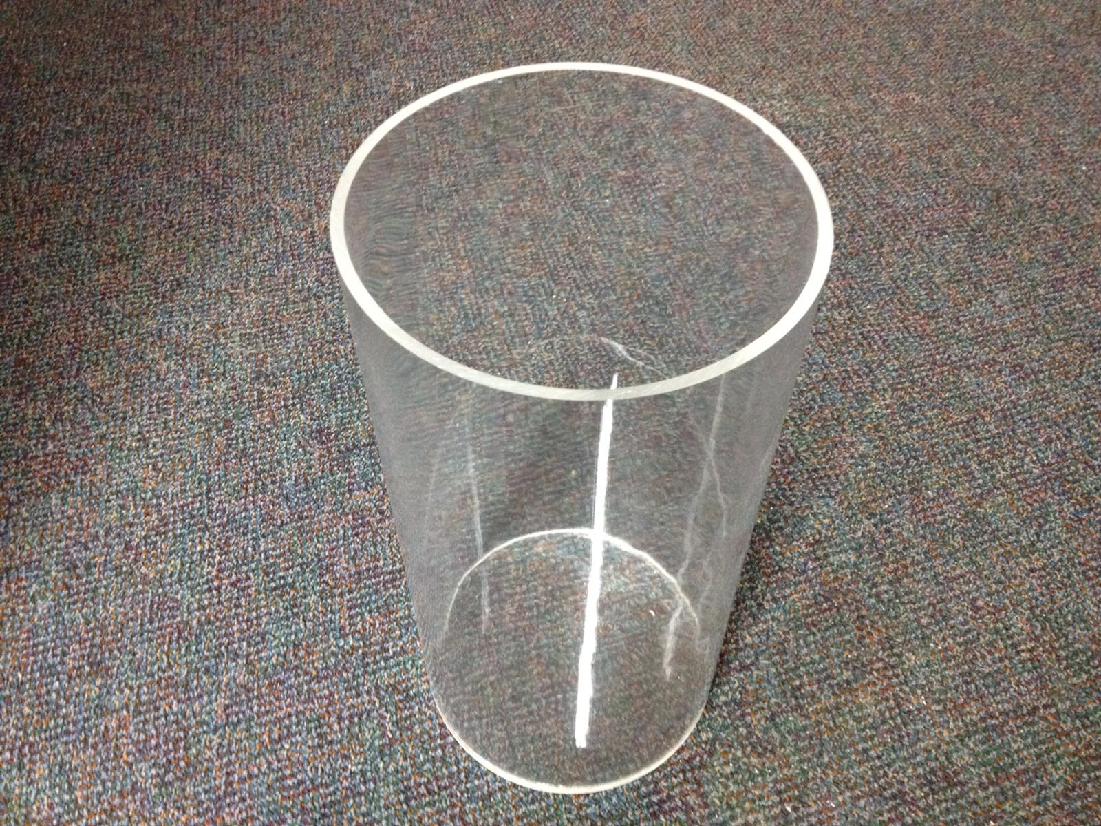 Perspex Round Tubular Display Container 400mm x 200mm