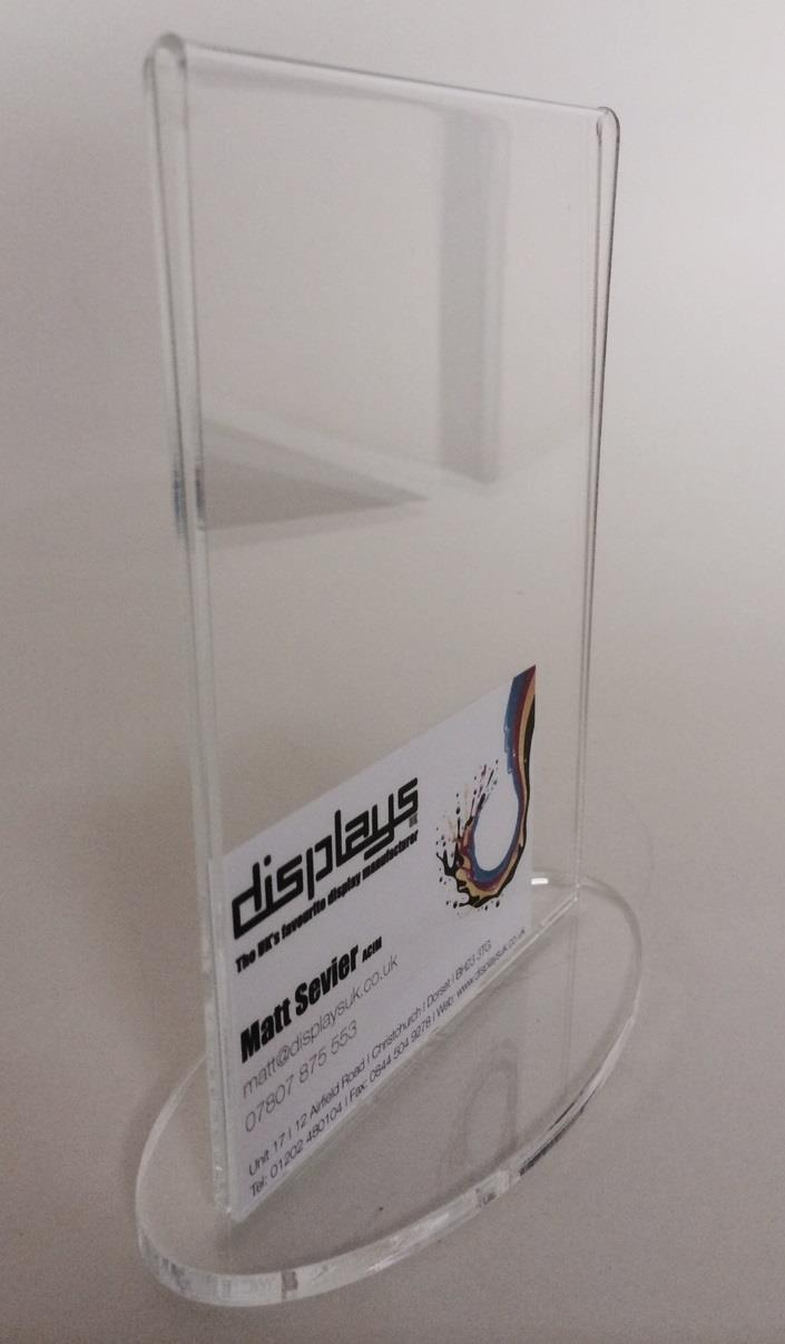 Oval Base Poster Holder Double Sided (Plastic)