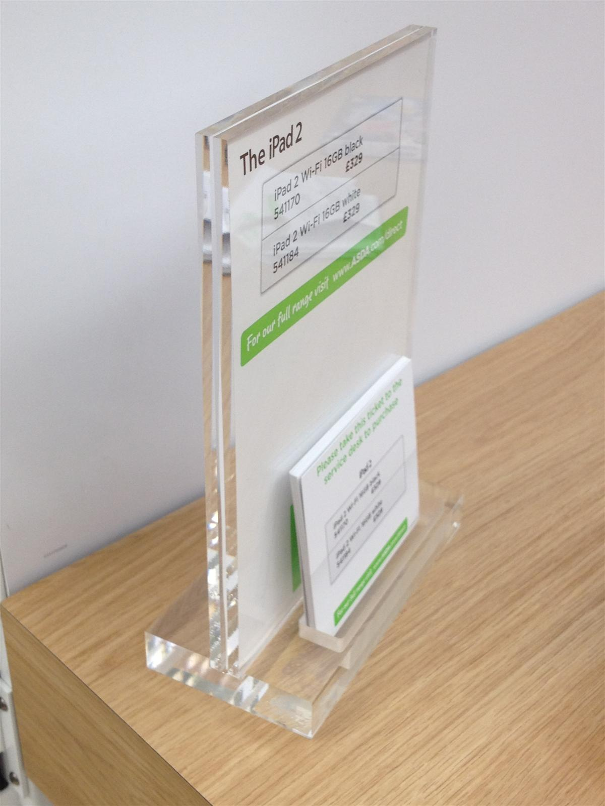 Premium Perspex Poster and Business Card Holder