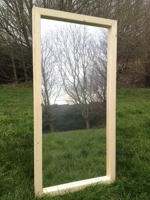 Wooden Framed Illusion Garden Mirrors
