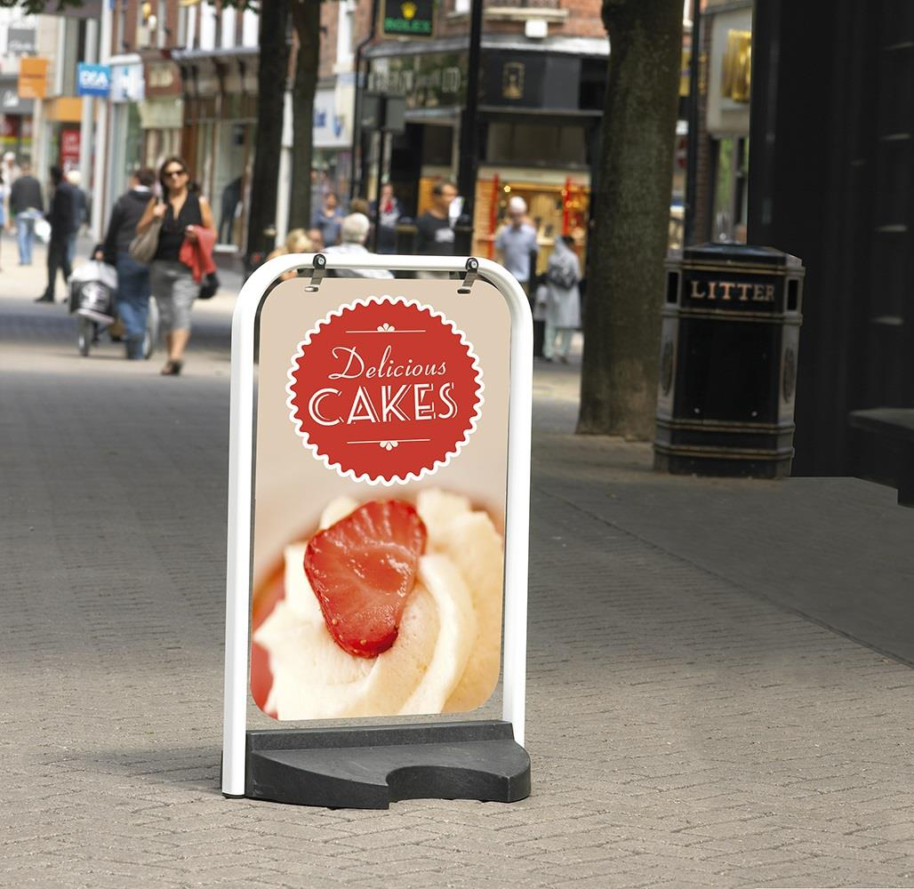 Pavement Swing Sign with Solid Rubber Base