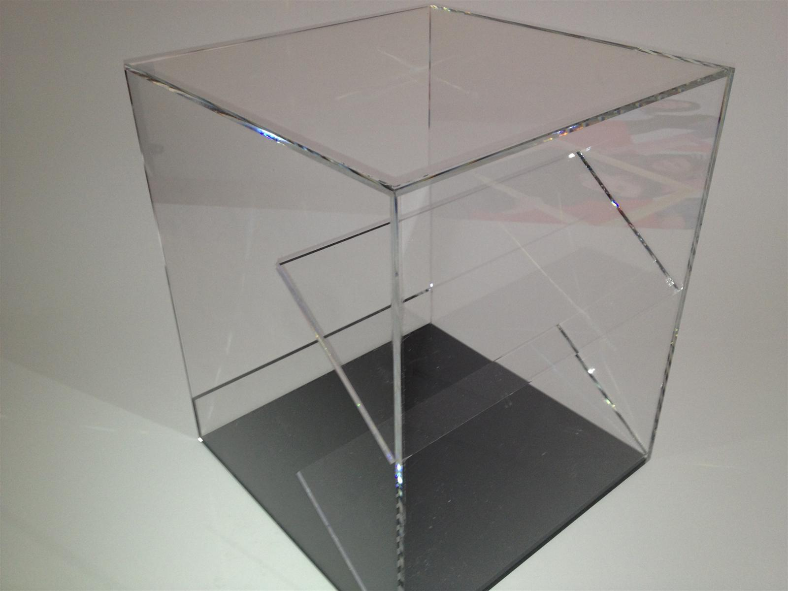 Perspex Acrylic Display Case with Shelves - Tabletop