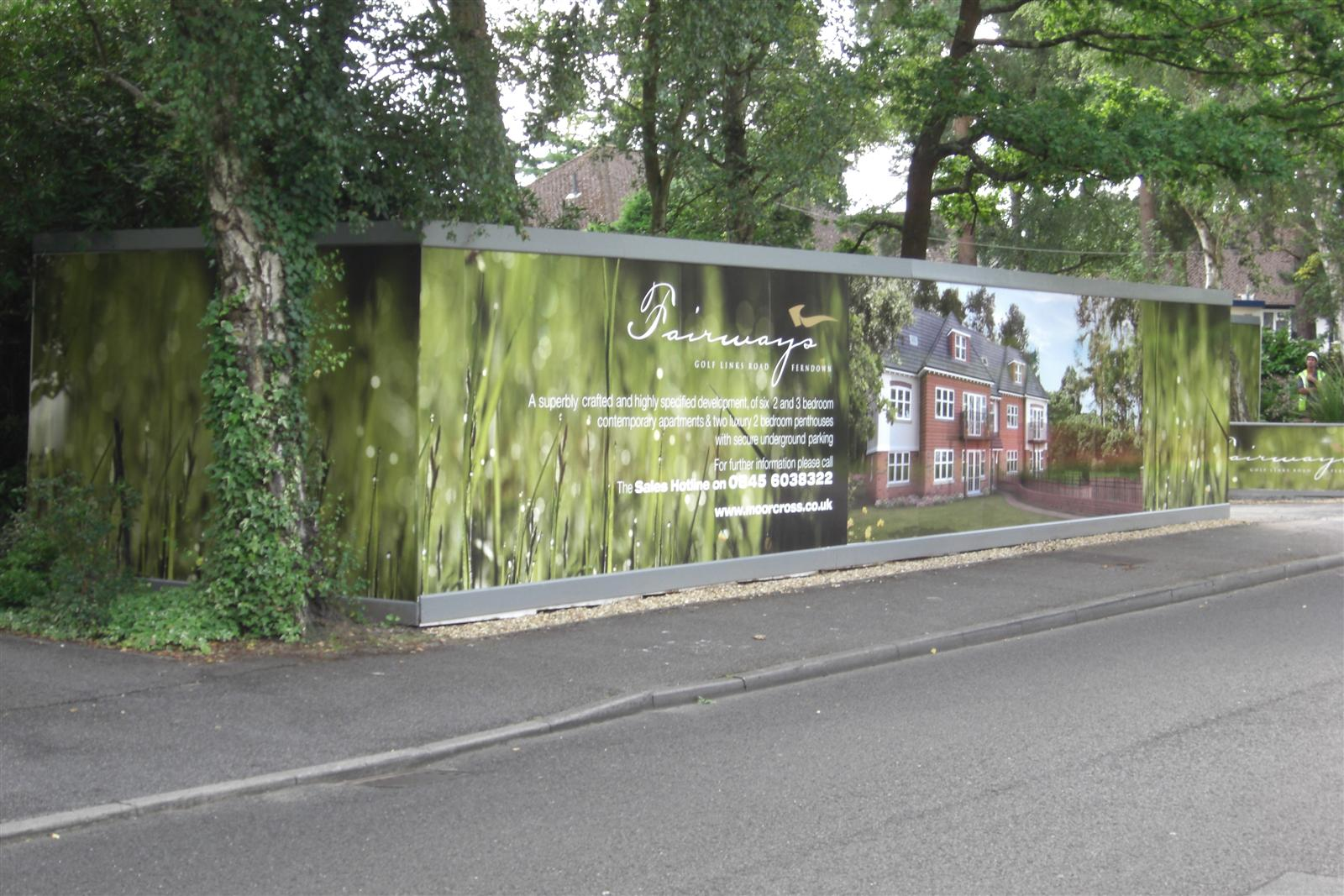 Printed Hoarding Panels - Building Site Advertising Panels