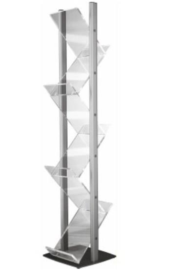 Zig Zag Perspex Literature Stand A4 Freestanding
