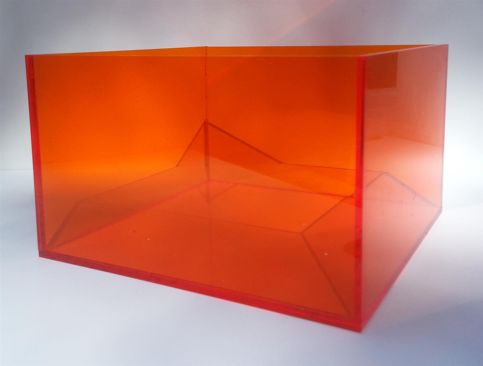 Perspex Tinted Acrylic Display Boxes Cubes & Cases