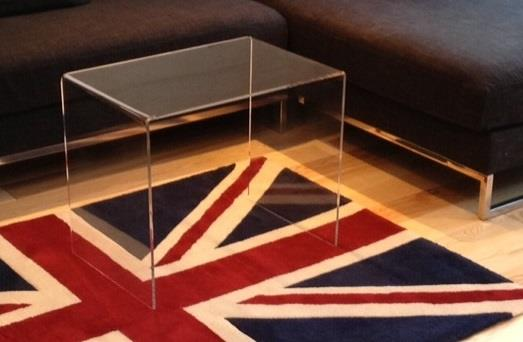 Perspex Acrylic Coffee Table - Clear