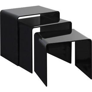 Acrylic Nest Of Tables - Perspex Black